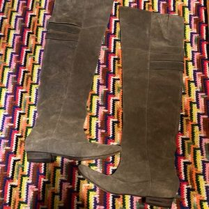 Joie taupe suede high knee boots